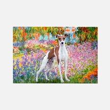 Garden / Ital Greyhound Rectangle Magnet