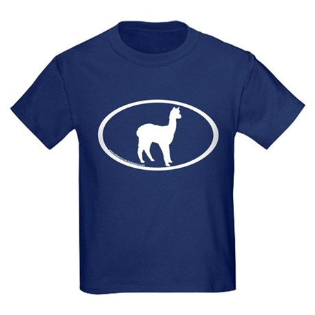 standing alpaca oval Kids Dark T-Shirt