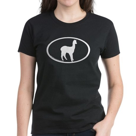 standing alpaca oval Women's Dark T-Shirt