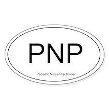 Pediatric Nurse Practitioner Oval Decal
