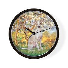 Spring / Italian Greyhound Wall Clock