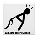 Assume the Position Tile Coaster