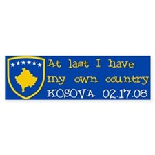 At last I have my own country Bumper Bumper Sticker