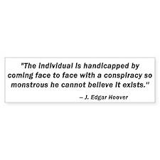 Conspiracy Bumper Bumper Sticker
