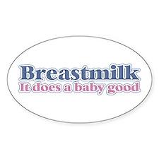 Breastmilk Oval Decal
