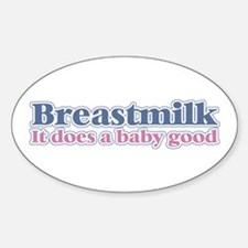 Breastmilk Oval Decal