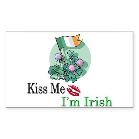 Kiss Me, I'm Irish Rectangle Sticker