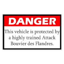 Attack Bouvier des Flandres Decal