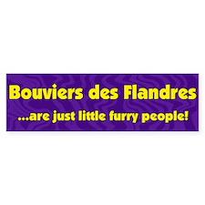 Furry People Bouvier des Flandres Bumper Bumper Sticker