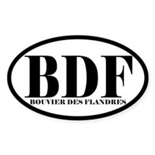 BDF Abbreviation Bouvier des Flandres Decal