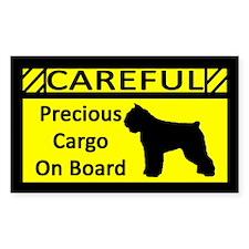 Precious Cargo Bouvier des Flandres Sticker (Rect)