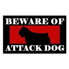 Beware of Attack Dog Bouvier Decal