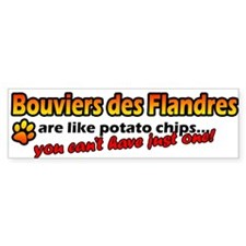 Potato Chips Bouvier des Flandres Bumper Bumper Sticker