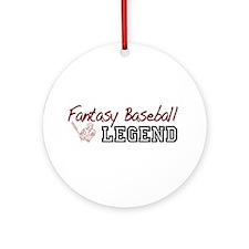 Fantasy Baseball Legend Ornament (Round)