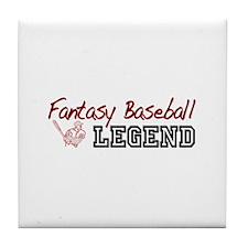 Fantasy Baseball Legend Tile Coaster
