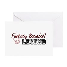 Fantasy Baseball Legend Greeting Cards (Pk of 10)