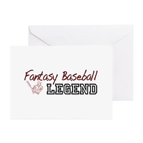 Fantasy Baseball Legend Greeting Cards (Pk of 10)