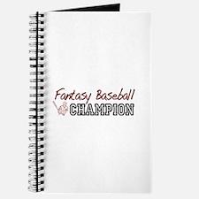 Fantasy Baseball Champion Journal