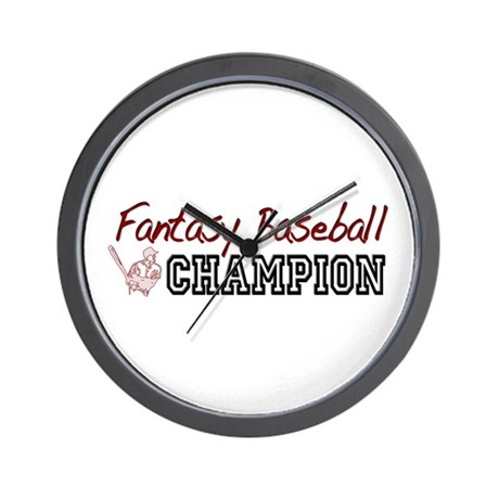 Fantasy Baseball Champion Wall Clock
