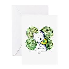 Kiss Me I'm Irish Westie Greeting Card