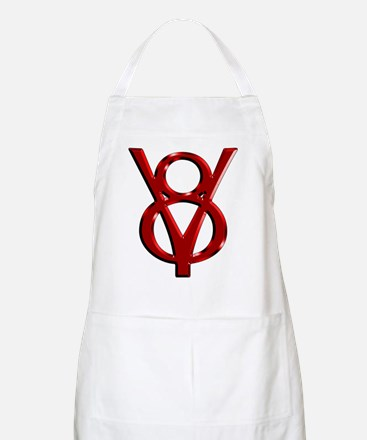 Red Chrome BBQ Apron