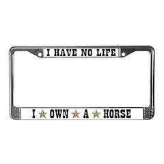 Horse Owner License Plate Frame