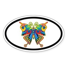 Butterfly Euro Oval Decal