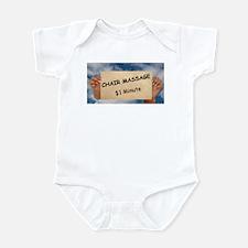 Chair Massage $1 Minute Infant Bodysuit