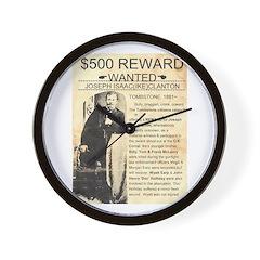 Wanted Ike Clanton Wall Clock