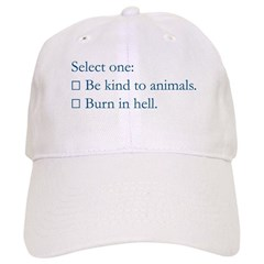 Be Kind to Animals Baseball Cap