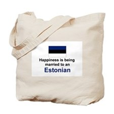 Happily Married To Estonian Tote Bag