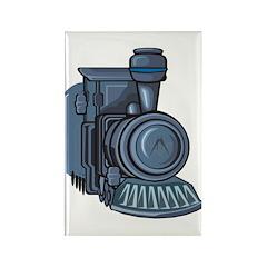 Railroad Mason Rectangle Magnet