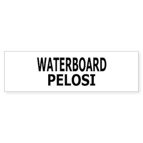 Waterboard Pelosi Bumper Sticker