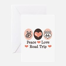 Peace Love Route 66 Road Trip Greeting Card