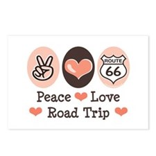Peace Love Route 66 Road Trip Postcards (Package o
