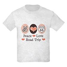 Peace Love Route 66 Road Trip T-Shirt