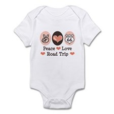 Peace Love Route 66 Road Trip Infant Bodysuit