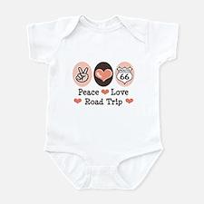 Peace Love Route 66 Road Trip Infant Bodysuit