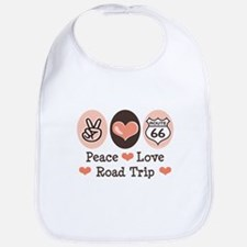 Peace Love Route 66 Road Trip Bib