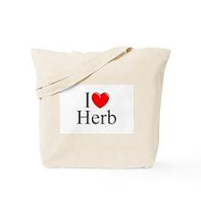 """""""I Love (Heart) Herb"""" Tote Bag"""