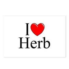 """""""I Love (Heart) Herb"""" Postcards (Package of 8)"""