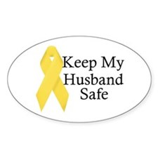 Keep My Husband Safe Oval Decal