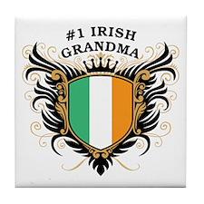 Number One Irish Grandma Tile Coaster