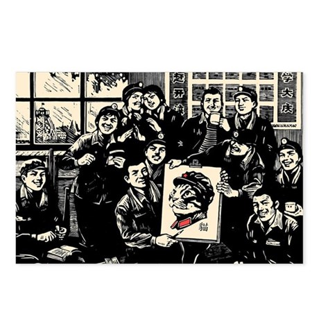 Workers for Chairman Meow Postcards (Pack of 8)
