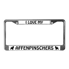 I Love My Affenpinschers (PLURAL) License Frame