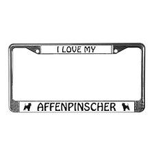 I Love My Affenpinscher License Plate Frame