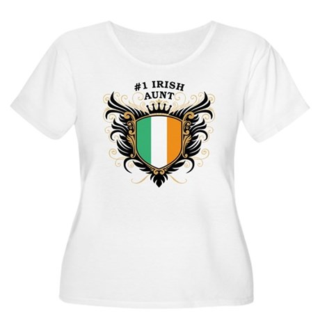 Number One Irish Aunt Women's Plus Size Scoop Neck