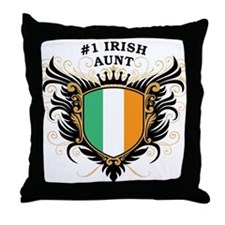 Number One Irish Aunt Throw Pillow