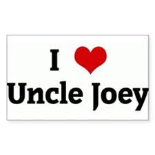 I Love Uncle Joey Rectangle Decal