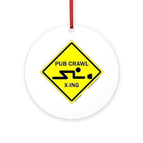 Pub Crawl X-ing (Crossing) Ornament (Round)